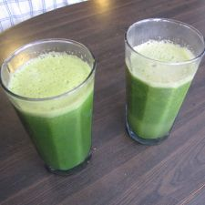 Two green juice recipes.